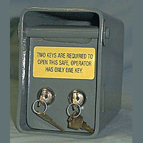 mini safe with two keys
