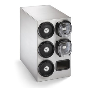 Stainless cup lid dispenser cabinet