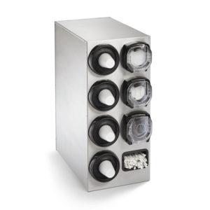 Stainless Steel lid dispenser cabinet